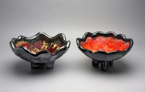 Large Red Bowls