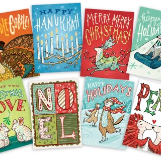 holiday greeting cards by illustrator Anni Betts