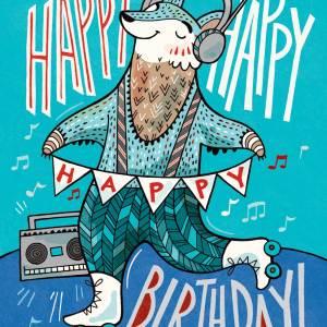 Birthday Card: Rollerskates