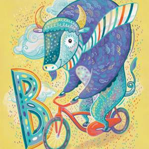 B is for Buffalo on a Bicycle