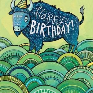 Birthday Card: Buffalo