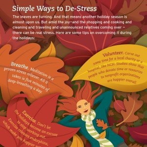De-Stress Infographic for About Health magazine