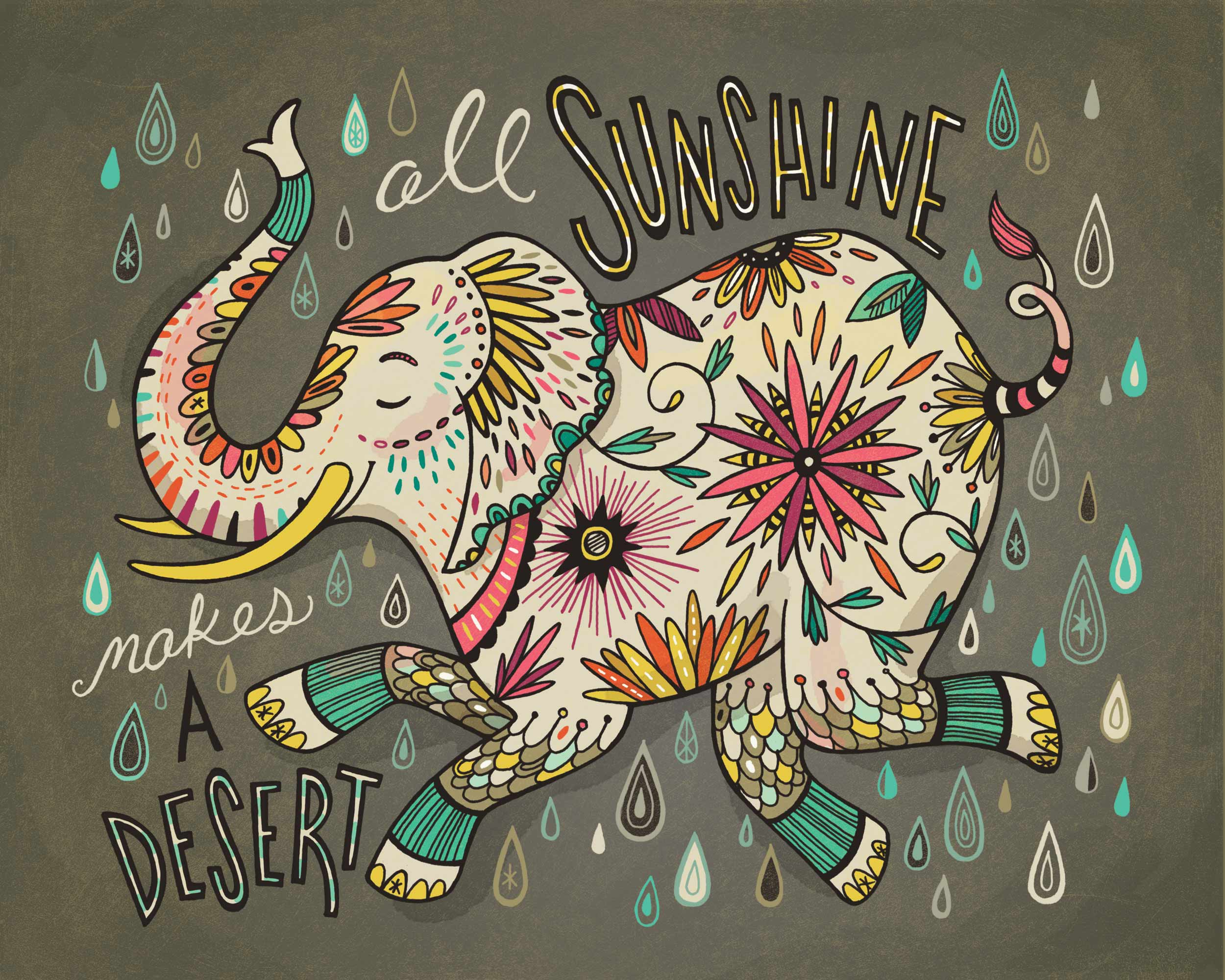 All Sunshine Makes a Desert: print for sale