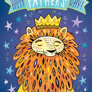 Fathers Day Card: King Dad
