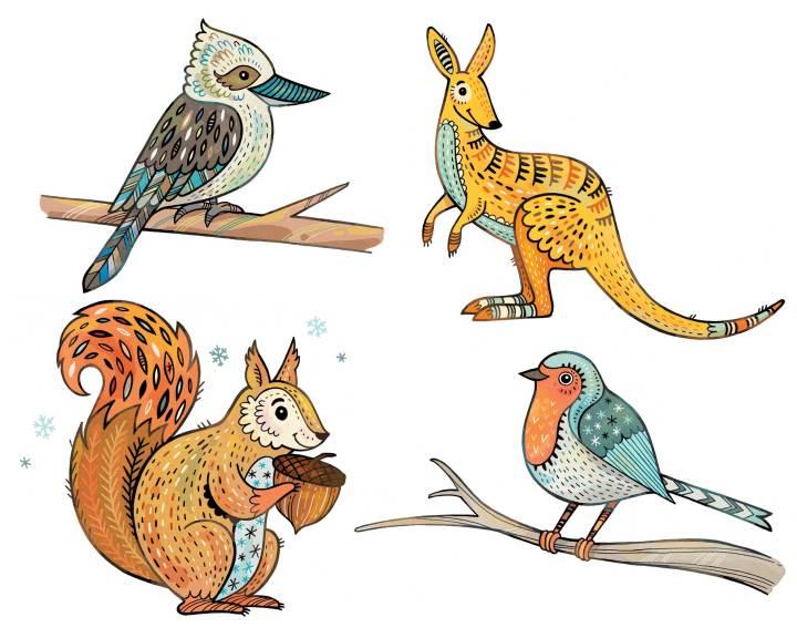 Animals for a Wedding Invitation
