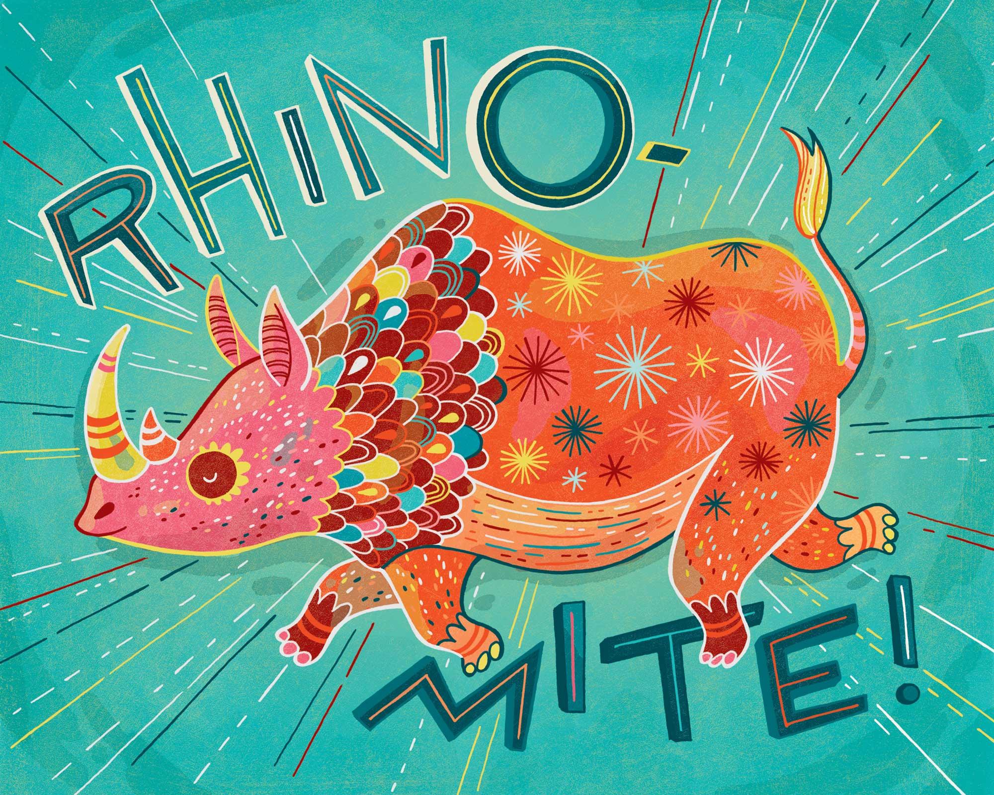 RhinoMite! Print for sale