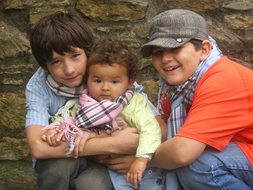 The kids hanging out at the Edinburgh castle after Blake and I got married