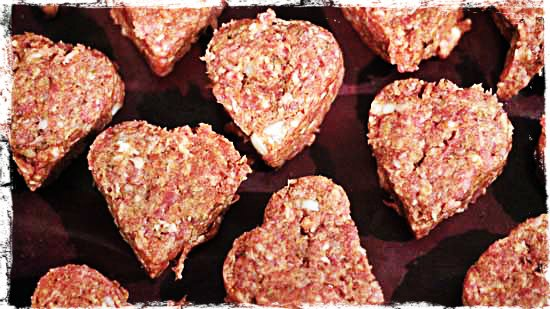 valentines day in France: meat loaf hearts