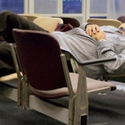 How to sleep in an airport comfortably and safely