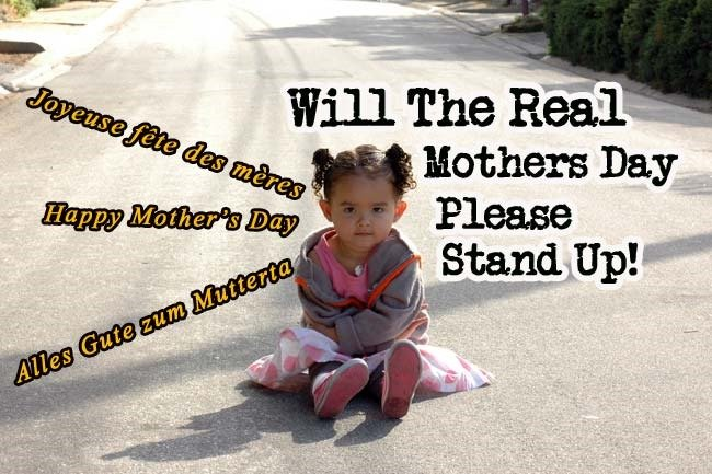 What day is mothers day celebrated around the world?