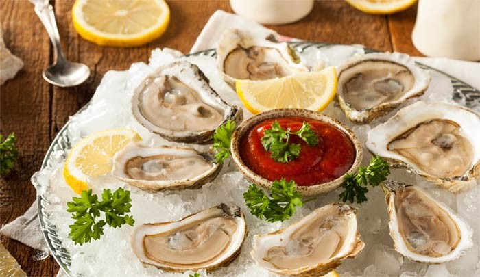 Weird french new years eve foods: raw oysters