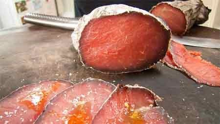Bresaola: saucisson sec: A popular type of cured meat eaten in France