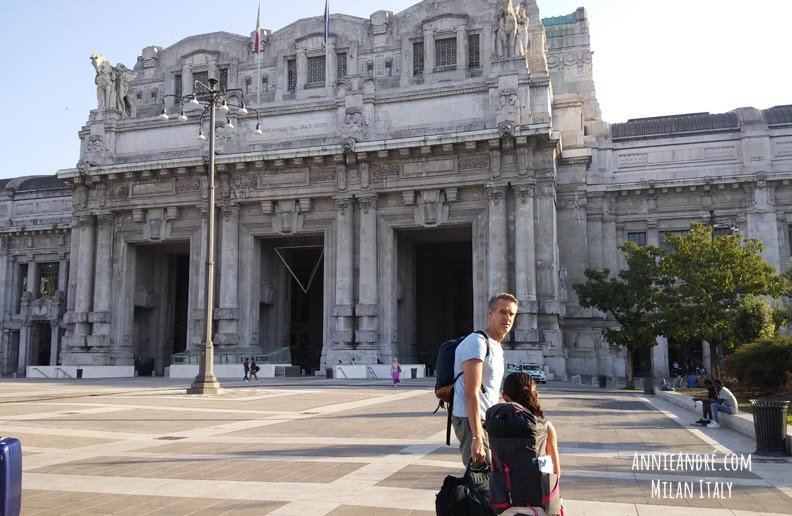 Milan train station. One of the many beautiful train stations conveniently located smack dab in the middle of all the action