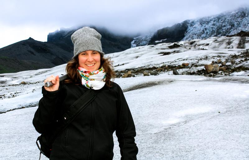 Annie Anywhere - Marche sur les glaciers en Islande