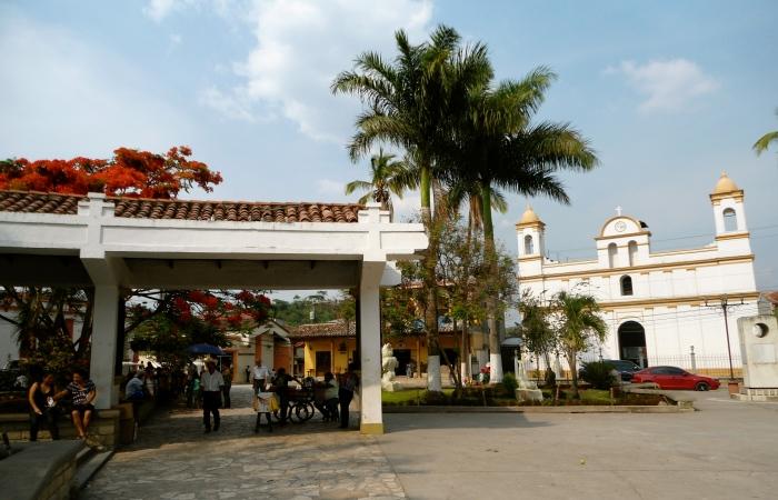 Parque Central in Copan