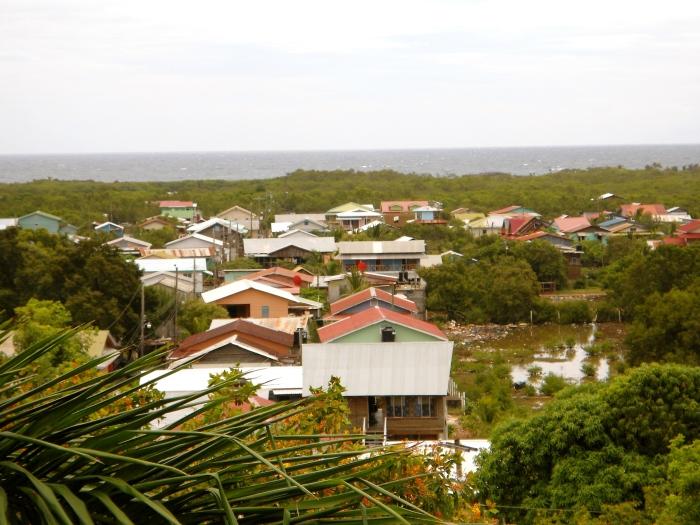 Tela, a small town in Honduras