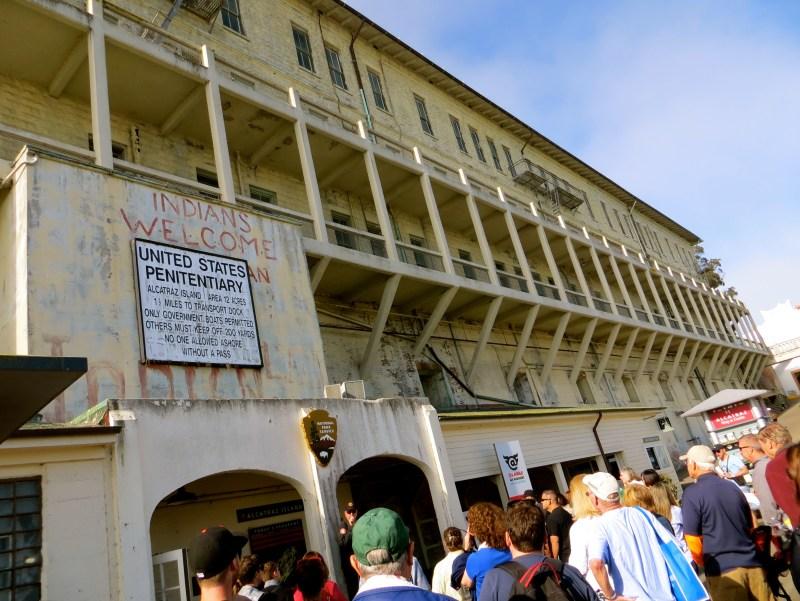 Entrance to Alcatraz Prison in California
