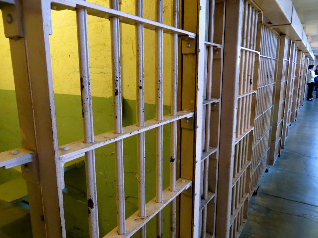 One of the many cell in Alcatraz Prison