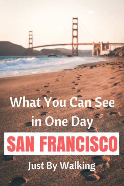You can see a lot of San Francisco if you're willing to walk around town. Here's what I manage to see in only one day, walking around. #travel #sanfrancisco #walk #backpackers #california