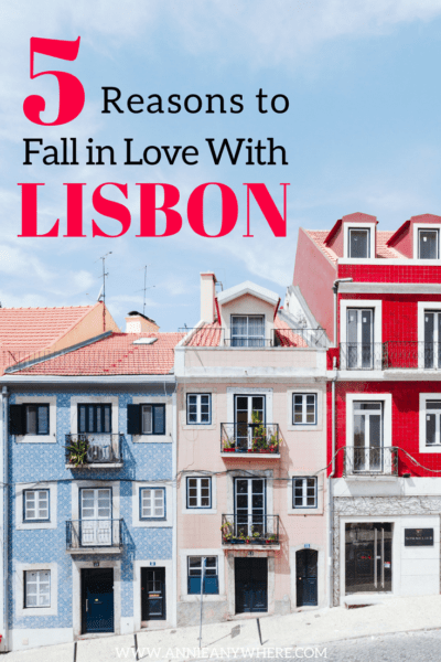 There is certainly more than 5 reasons to fall in love with the beautiful city of Lisbon, but here's the list of my favorite. #Portugal #Lisbon #Lisboncity #Travel #Backpacking #Backpackers #EuroTrip