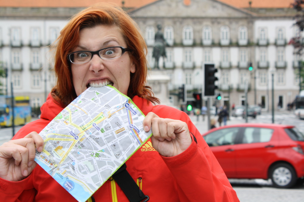Choose a travel partner who can read a map