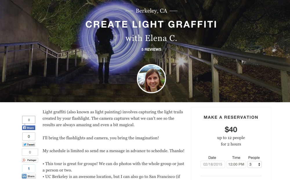 Light Graffiti Tours via Vayable.com