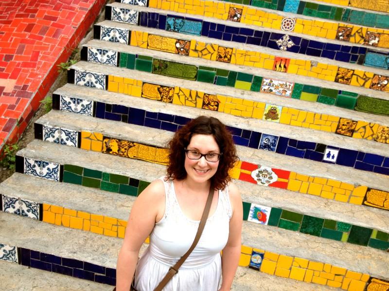 Selaron step in Rio de Janeiro