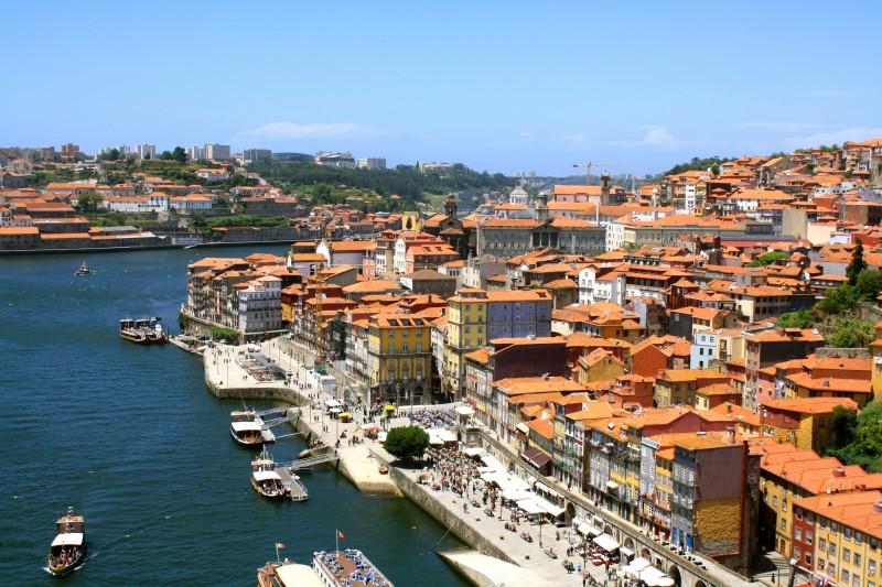 View from the bridge in Porto