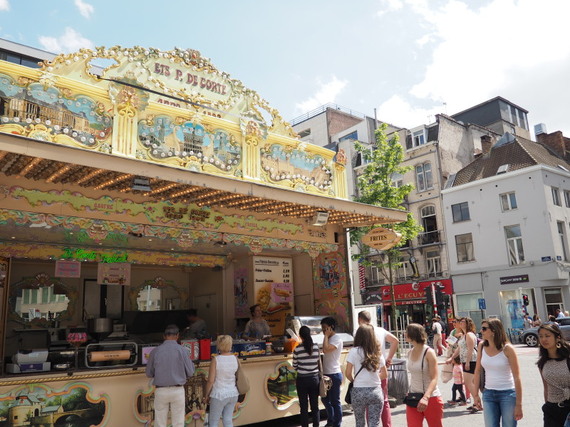 Street food in Brussels