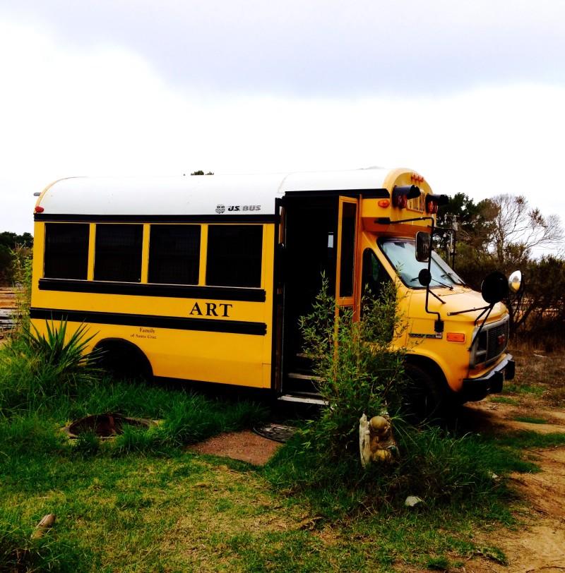 AirBnb Bus in Carmel