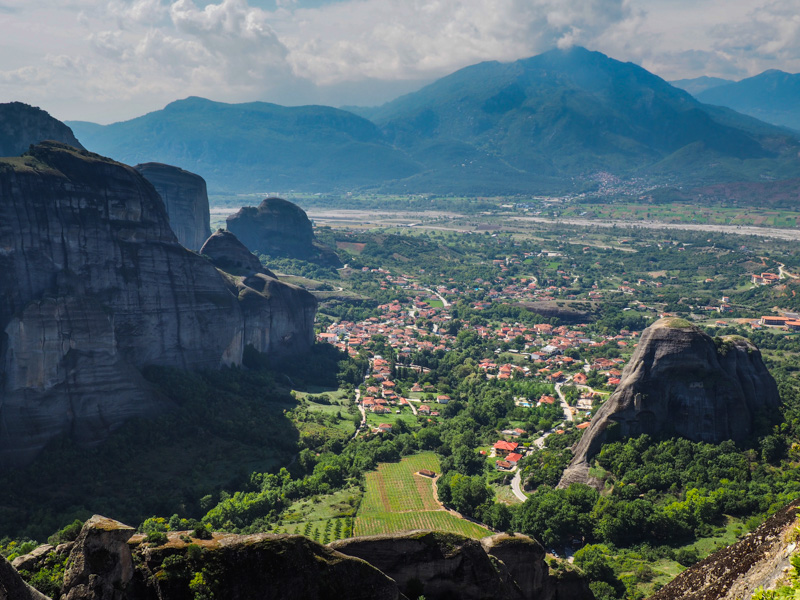 Meteora landscape, Greece
