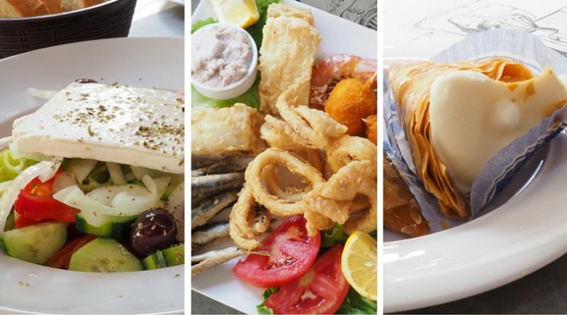 Greek Food in Trikala before exploring the monasteries of Meteora