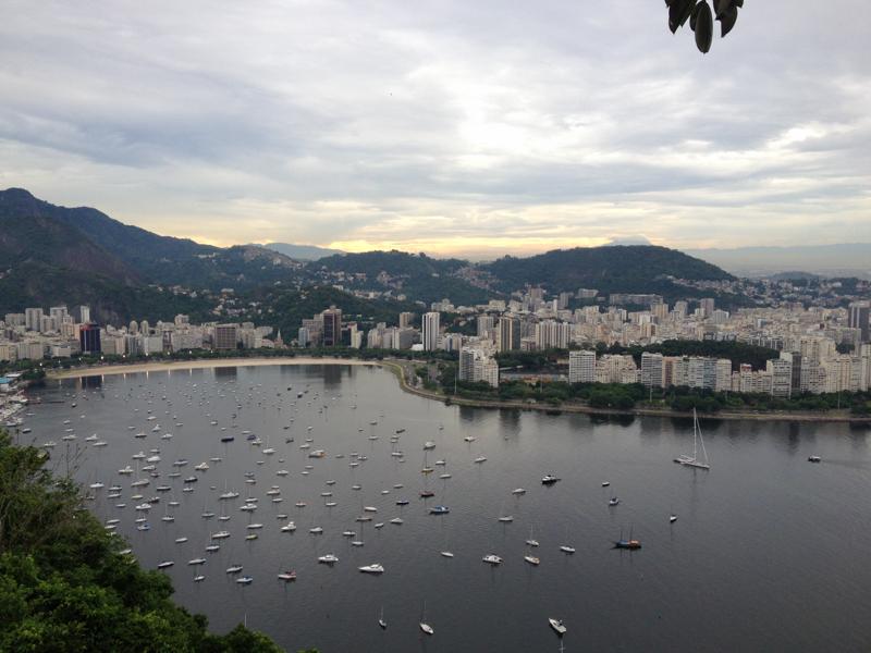 Vue panoramique de Rio de Janeiro au Brésil