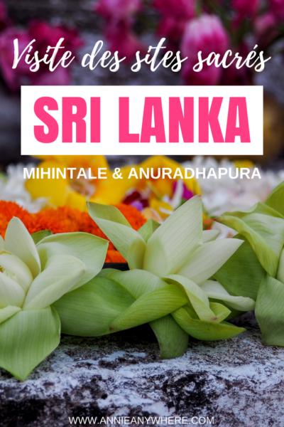 Deux incontournables du Sri Lanka: les sites sacrés de Mihintale et Anuradhapura. Une façon de découvrir les valeurs qui habitent ce pays d'Asie. #Asie #SriLanka #voyage #voyagevoyage