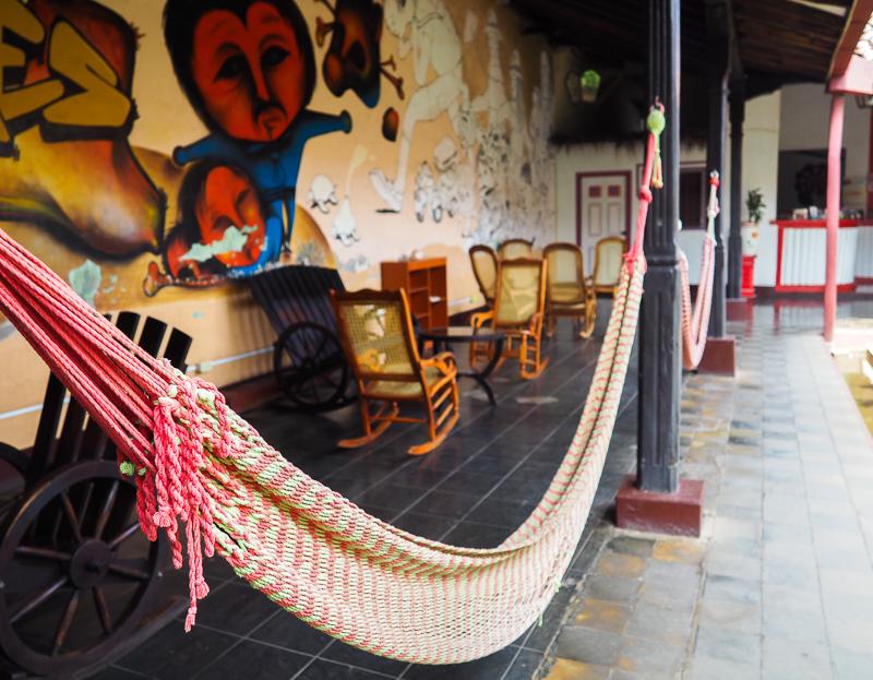 Auberge Lazybones dans la ville de Léon au Nicaragua.