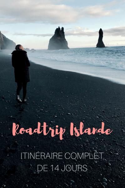 Toutes les étapes et endroits à découvrir pour un road trip de 14 jours en Islande. Geysers, chutes, plages de sable noir et vie nocturne à Reykjavif. Tout y est! #Islande #voyage #voyagevoyage #roadtrip