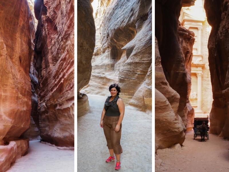 Le Siq, chemin à prendre pour atteindre le Trésor, à Petra.