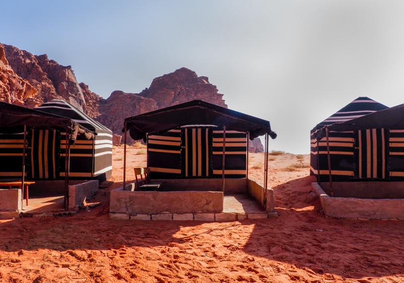 Campement dans le Wadi Rum