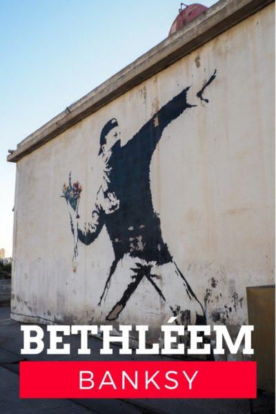 Itinéraire pour voir les oeuvres de Banksy à Bethléem, Palestine.