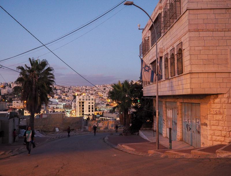 Bâtiments juifs à Hebron.
