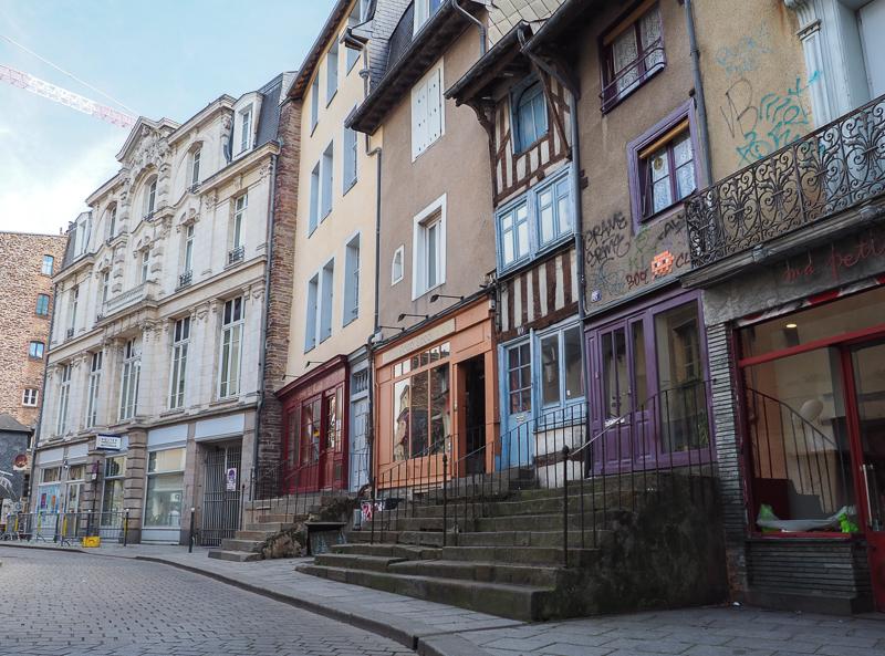 Invader dans la ville de Rennes.