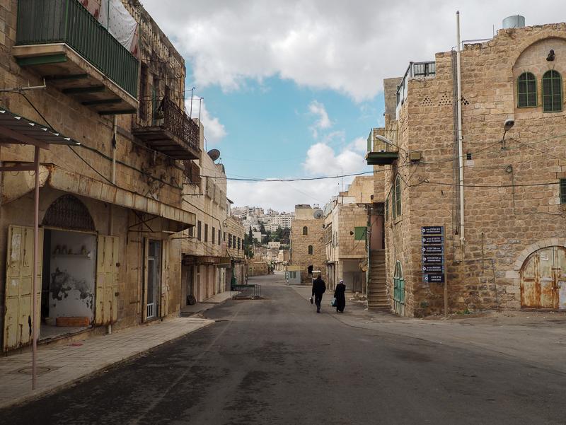 Rue Shuhada, rue de l'Apartheid, Hebron.