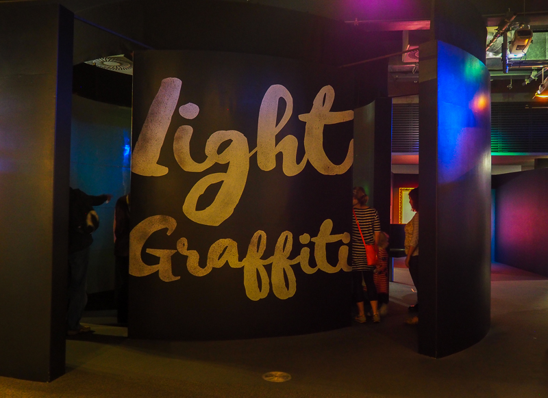 Light Graffiti au Centre des Sciences de Bristol.