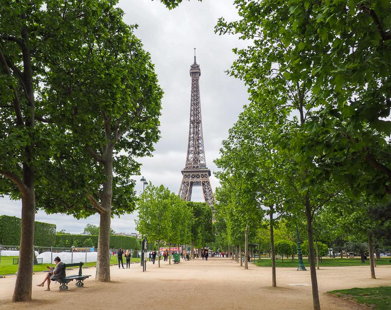 Parc de la Tour Eiffel à Paris.