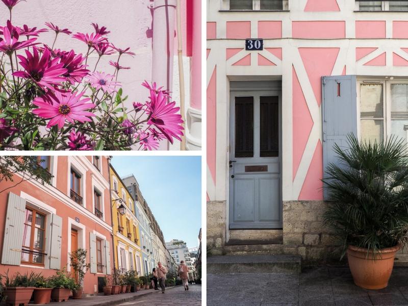 Couleur de la rue Crémieux: rose.