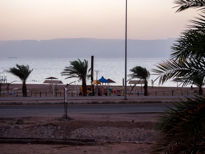 Plage d'Aqaba en Jordanie.