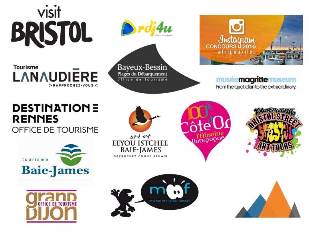 Partenariats et collaborations entre Annie Anywhere et les offices de tourisme, musées, tours et plus.