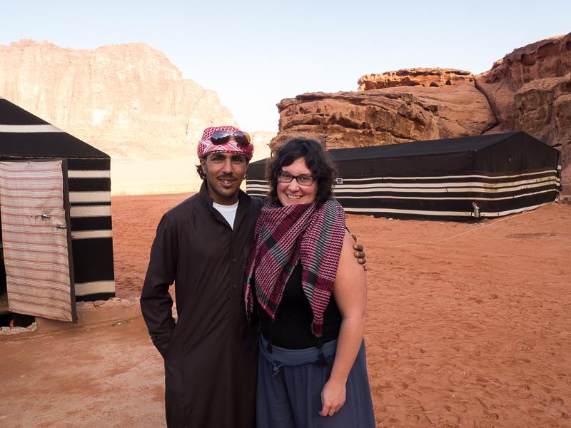 Guide Bédouin dans le désert du Wadi Rum.
