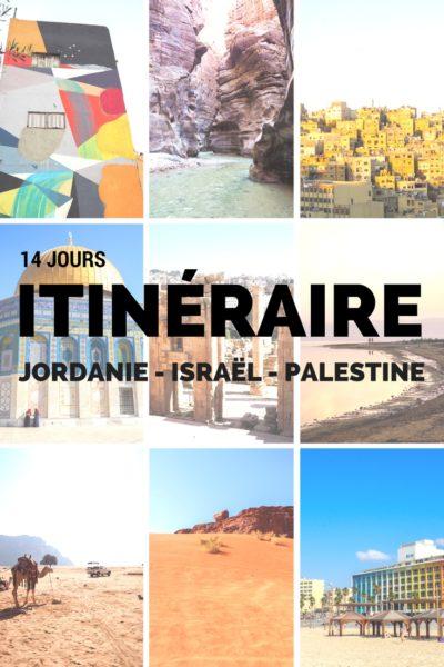 Itinéraire complet pour visiter la Jordanie, Israël et les territoires palestiniens en 14 jours. Avec cet itinéraire, j'ai pu comprendre les transports, quoi visiter, et découvrir plus de 40 photos de ces pays du Moyen-Orient! #Jordanie #Palestine #Israel #voyage #voyagevoyage