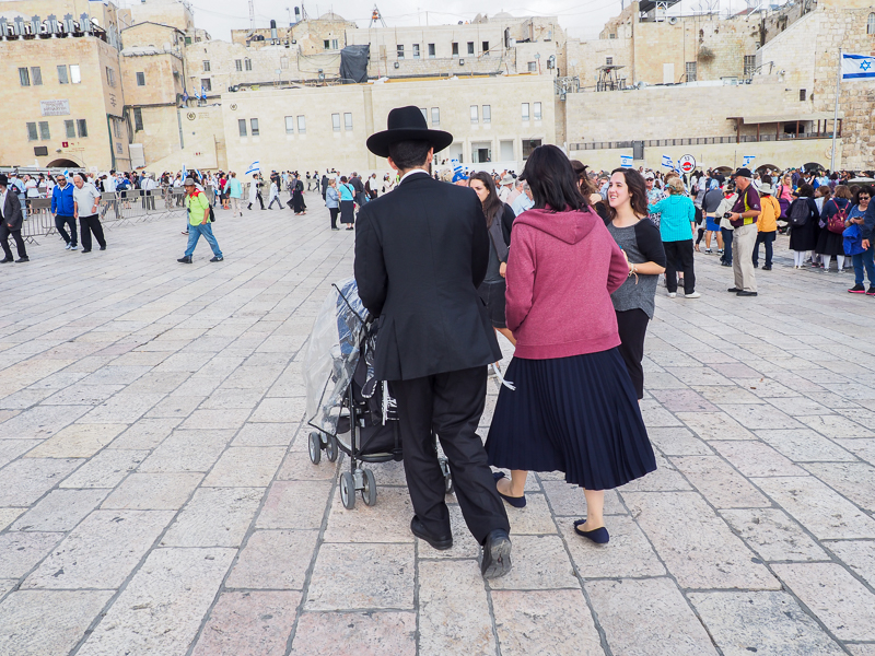 Mur des lamentations à Jerusalem.